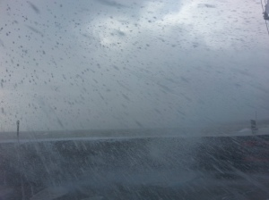 Storm on Torquay seafront